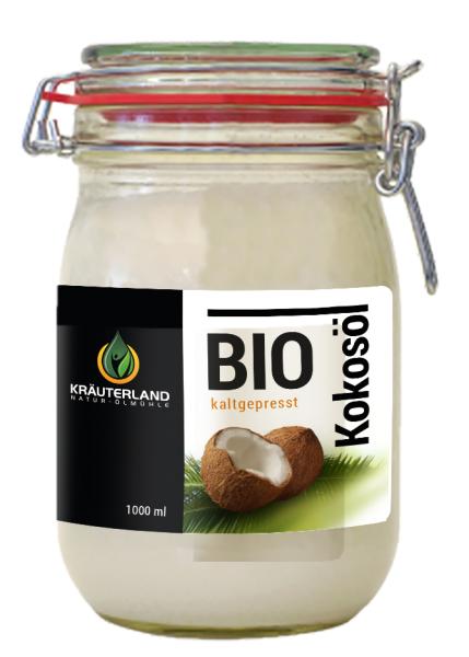 BIO-Kokosöl - nativ, kaltgepresst 1 Liter
