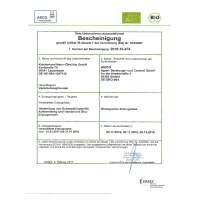 Schwarzkümmelöl BIO Zertifikat